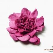 «Роза»  из замши