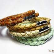 Двойной плетеный браслет