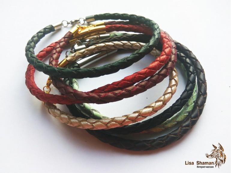 Простой плетеный браслет (4 мм)