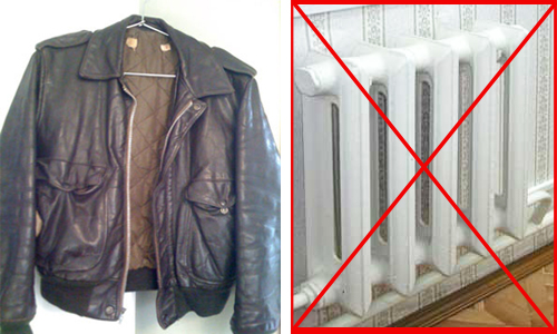 мокрая куртка, как сушить куртку