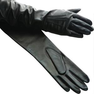 вид натуральной кожи лайка, черные перчатки из лайки